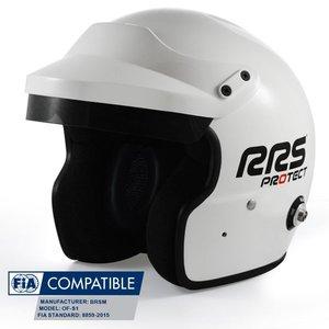 Отворена каска RRS FIA - бяла